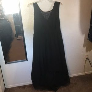 Torrid black sleeveless special occasion dress.